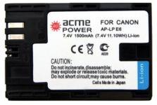 AcmePower AP-LP-E6 для: Canon EOS 5D MarkII/5D MarkIII/60D/60Da/7D
